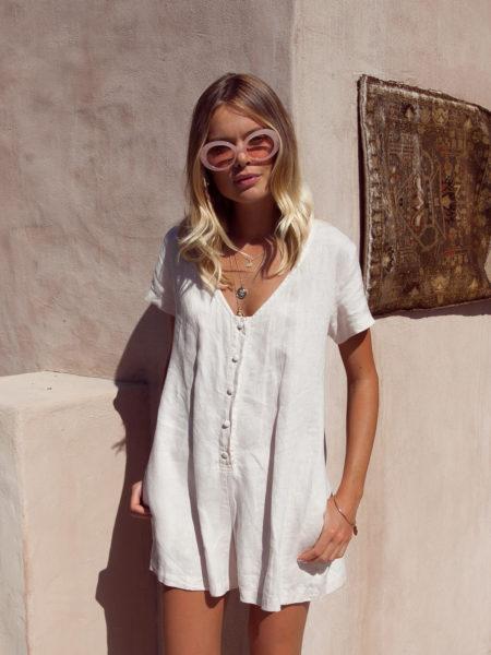 Summer-Linen-Playsuit-Buy-Online-Australia-Resort-Beachwear-Bridget-Palm-Collective